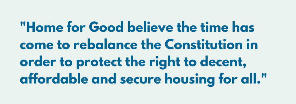 'Home for Good' Launches General Election Campaign to Rebalance Constitution and Protect Safe and Secure Housing